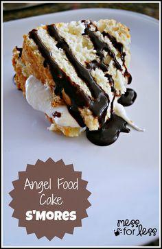 S'Mores Angel Food Cake Dessert