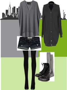 A fashion look from November 2012 featuring long cardigans, v neck t shirts and hollister co. Browse and shop related looks. Long Cardigan, City Life, Hollister, V Neck T Shirt, Fashion Looks, Gray, Shorts, Polyvore, Shopping