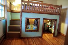 A double one of these would be awesome for the boys!  With Mila's bed underneath one side and a playhouse underneath the other.