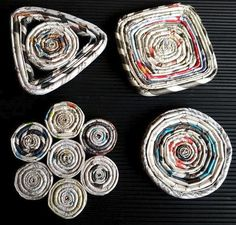 Rad Recycled Paper Homemade Coasters | Make DIY coasters from newspapers and magazines.