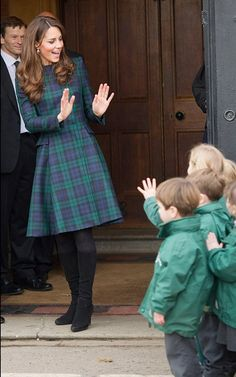 tartan/plaid dress | Kate Middleton