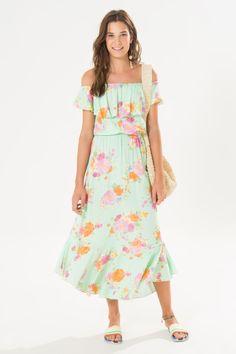 vestido midi jardim