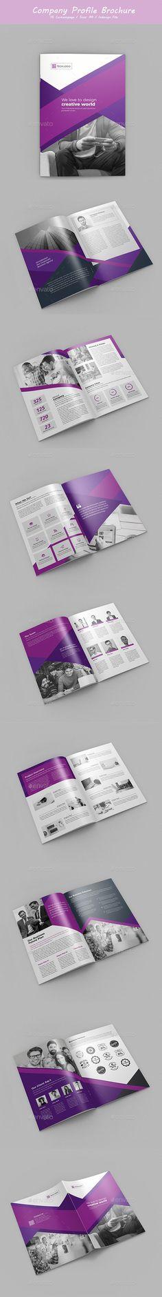 #Company Profile Brochure - #Brochures Print Templates