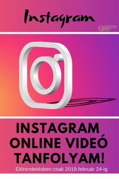 Összegyűjtöttem a lényeget, amire a magyar vállalkozóknak 2019-ben szükségük van ahhoz, hogy több látogatót és így több vevőt szerezzenek az Instagram segítségével.  Az Instagram online videó tanfolyam segítségével végre képes leszel a saját vállalkozásod sikerének növelésére használni ezt a közösségi média felületet is! Online Marketing, Tech Companies, Company Logo, Instagram