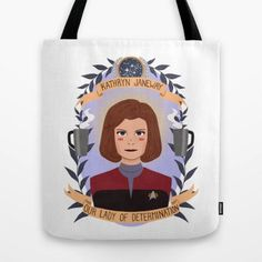 Captain Janeway Determination Tote Bag $22 ⋆ Star Trek Gifts!