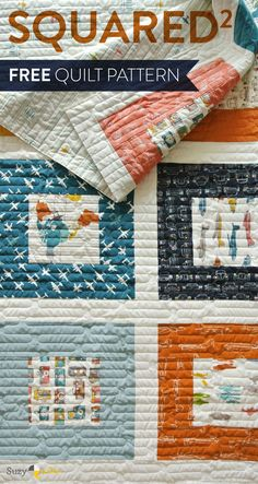 This free and simple square inside a square quilt pattern is perfect for a newbie quilter. Download it now!