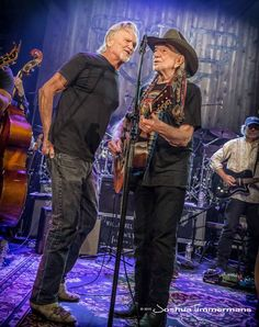 The Highwaymen! Willie Nelson & Kris Kristofferson - 07/05/15 - Rehearsals for Outlaw: Celebrating the Music of Waylon Jennings - ACL Live - Austin, TX.