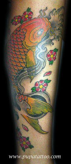 Tatuaje Carpa Japonesa Pupa Tattoo Granada Art Gallery C