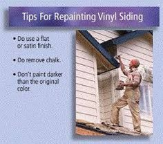 1000 Images About Painting Your Old Vinyl Siding To Match