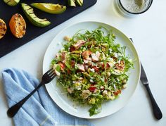 Full of protein and healthy fats, this chopped salad is one of our favorite lunches.