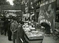 Barcelona, diada de Sant Jordi, Rambla Catalunya  1934.