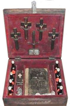 An exorcism kit made for work in the Christian tradition