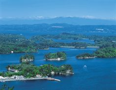 Matsushima, a Bay in Sendai, Japan made up of many islands covered with pine tress :-)