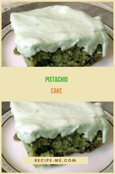 Pistachio Cake Dessert Drinks, Party Desserts, Cake Recipes, Dessert Recipes, Pistachio Cake, Just Cakes, My Best Recipe, Breakfast Cake, Cupcake Cakes