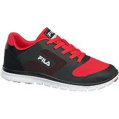 Fila Sneaker schwarz für Kinder - Der Sneaker von Fila kommt in einem trendsicheren Material und Farb Mix Das Obermaterial besteht aus rotem und schwarzem Textil PU und Mesh und ist stellenweise im Lagen Look stellenweise in Leder Optik verarbeitet Innen ist der Schuh mit einem Mix aus rotem Mesh und Textil ausgestattet Die profilierte weiße Laufsohle ist schwarz und rot abgesetzt die Label Details sind in Schwarz Weiß gestaltet Light Weight Sohle Farbe rot schwarz Laufsohle TPR EVA…