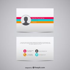 Vector business card illustration Free Vector
