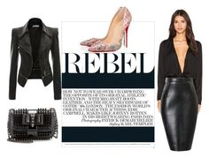 """""""Rebel"""" by tamara-sucha ❤ liked on Polyvore featuring Blaque Label and Christian Louboutin"""