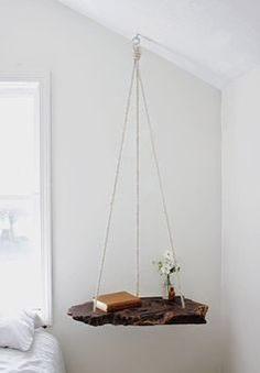 DIY projects for the home. This hanging night stand is so amazing via Bloglovin.