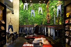 Green Garden Retail Design Replay store in florence