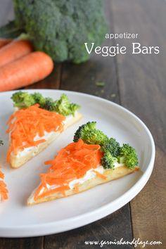 veggie bars appetizers | garnish and glaze
