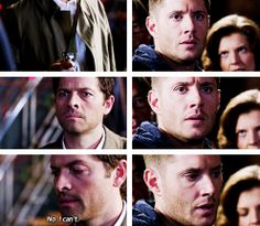 "[gifset] ""Don't lose it over one man."" 9x22 Stairway To Heaven #SPN #Dean #Castiel"