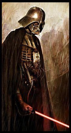 Battle-damaged Vader
