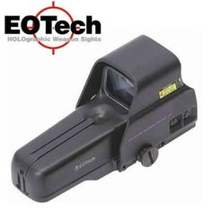 "The EOTech 517.A65 Holographic Sight is a real combat scope.  For self defense and hunting, an EOTech sight provides very rapid and accurate target acquisition for your rifle. It has the fastest target acquisition, hands down of any optic, and it is very rugged, waterproof, and highly used by the military, police and NATO forces. Holographic scopes rule and are superior to ""normal"" red dot scopes. The control buttons are on the side instead of the back to not be blocked by a magnifier."