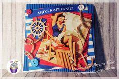 Pracownia artystyczna IKart: Ahoj, kapitanie - kartka dla marynarza