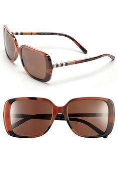 Burberry 'London Squared/Check Block' 57mm Sunglasses (Nordstrom Exclusive) available at #Nordstrom