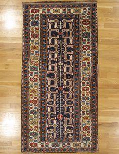 "Shirvan rug,Eastern Caucasus,circa 1890, 7'.5""x3'.9"" (226x114 cm)."