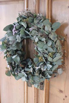 wreath eucalyptus krans kranz eukalyptus stoer sober landelijk wonen