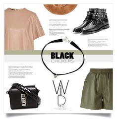 """Shake The World"" by marina-volaric ❤ liked on Polyvore featuring M Missoni, Proenza Schouler, Yves Saint Laurent, Belstaff and blackchokers"