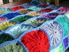 Grandad Square Crochet Pattern PDF Blanket Afghan by Thesunroomuk