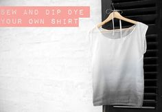 Sew and dip dye a shirt