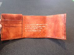 $50 replica of the wallet from The Secret Life of Walter Mitty with Life's motto inscribed inside on Etsy