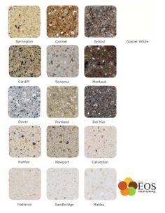 EOS Solid Surfaces Come In 16 Beautiful Colors.