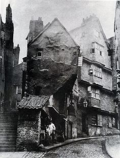 1866 medieval Steep Street from the junction with Trenchard Street (Bristol?)