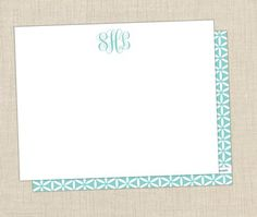 Classic Monogram Stationery. Great gift or a special treat for yourself at the office!