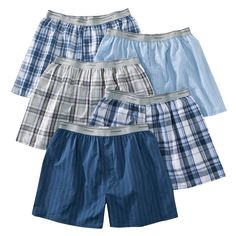 Fruit of the Loom� Men's Elastic Waistband Boxers 5-Pack - Assorted Colors