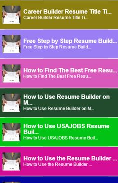 resume builder tipin this app you can see this topic - Step By Step Resume Builder For Free