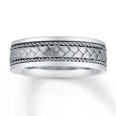 Men s Wedding Band 14K White Gold10K Two Tone Gold Wedding band 252048400 by Kay Jewelers   More  . Kay Jewelers Mens Wedding Bands. Home Design Ideas
