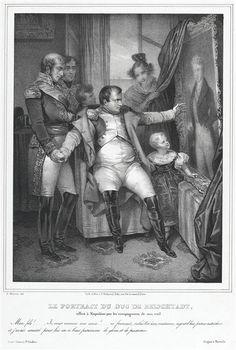 d'après Nicolas-Eustache Maurin | Cadeau du portrait duc Reichstadt offert à Napoléon par les compagnons de son exil
