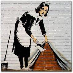 Trademark Fine Art Maid Canvas Art by Banksy, Size: 24 x 24, Multicolor
