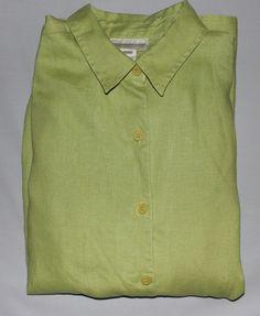 Jones of New York  Vintage 100% Linen  Green by EmmaLousResalePlace on Etsy
