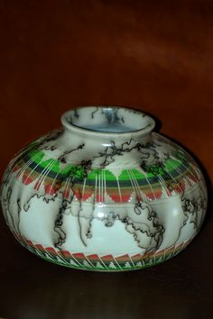 Navajo Horse Hair Turtle Pottery | Agnes Woods Horse Hair Pottery | Native American Pottery