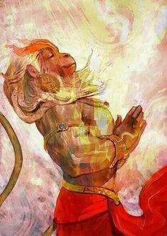 His love is his Strength - Lord Hanuman by Rajesh Nagulakonda Hanuman Tattoo, Hanuman Hd Wallpaper, Lord Hanuman Wallpapers, Hanuman Chalisa In English, Ram Hanuman, Hanuman Lord, Shiva Shakti, Hindu Deities, Character Art