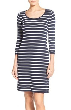 Foxcroft Stripe Knit Dress (Regular & Petite) available at #Nordstrom