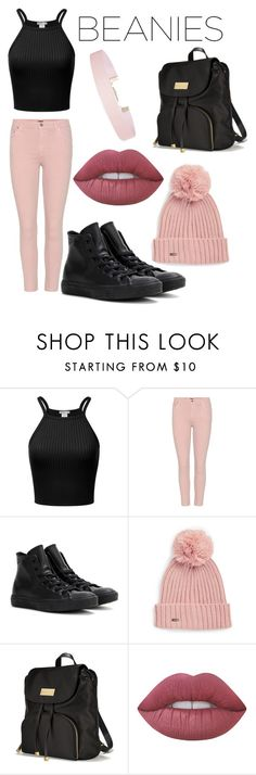 """""""Contest: Beanie Outfit"""" by ariannathetadpole ❤ liked on Polyvore featuring Citizens of Humanity, Converse, Calvin Klein, Victoria's Secret, Lime Crime and Humble Chic"""