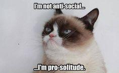 I'm not anti-social...I'm pro-solitude.