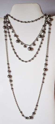 Multi Strand Metal Necklace Beaded Unique Jewelry for women Sale #NK 13 by eventsmatters on Etsy